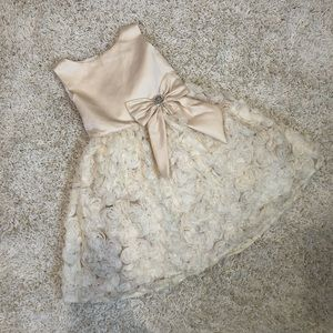Rare Editions Gold Floral Dress Girl's Size 6X